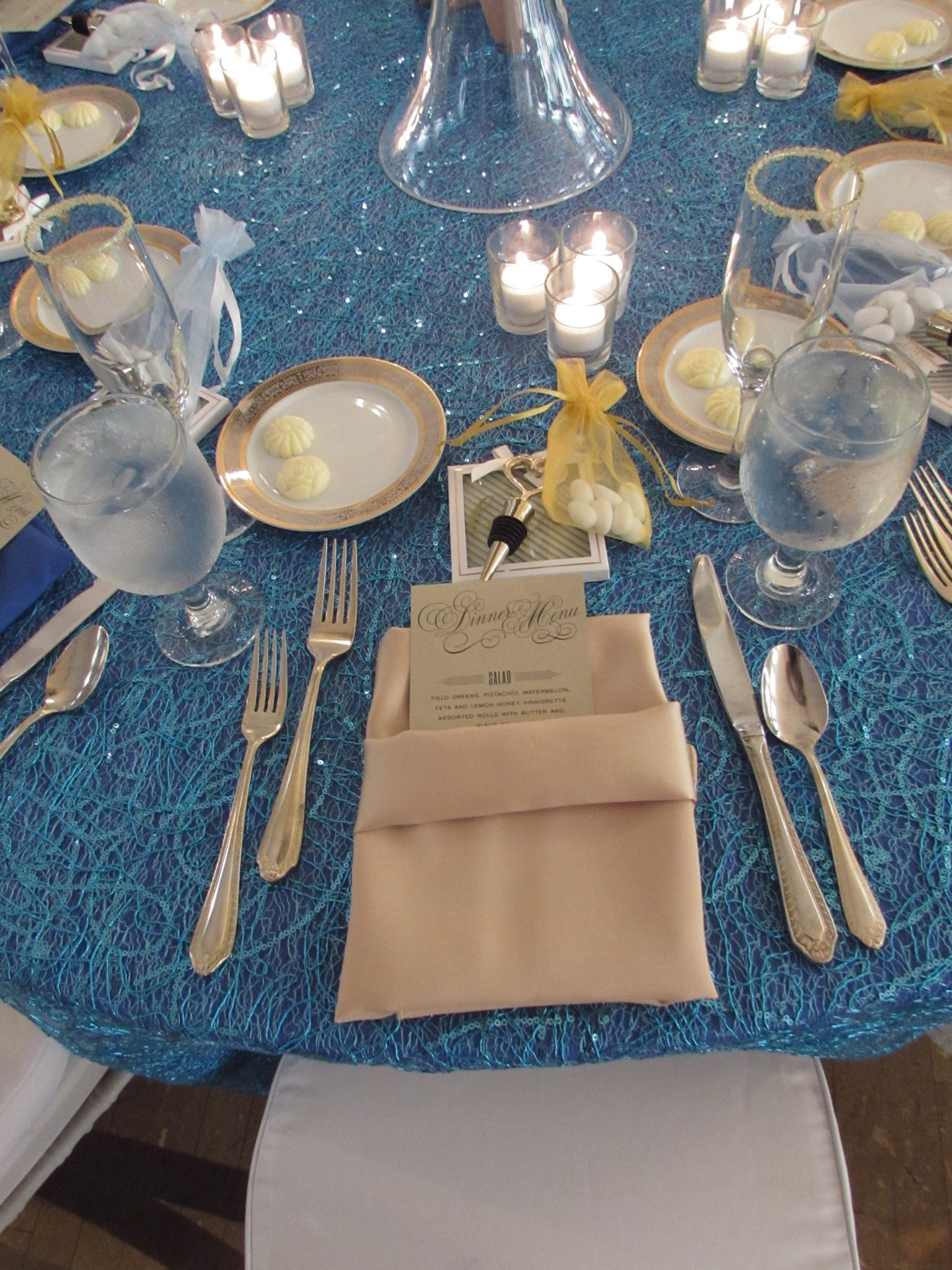 Event design by Kathy Piech-Lukas of Your Dream Day, linens by Prime Time Party Rental, stationery by Paper Pod Designs