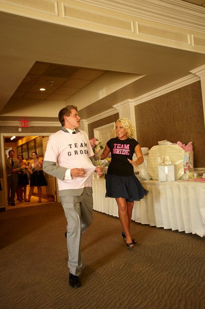 Best Man And Maid Of Honor Wore Team Groom Bride Shirts For Their Reception Entrance I Would