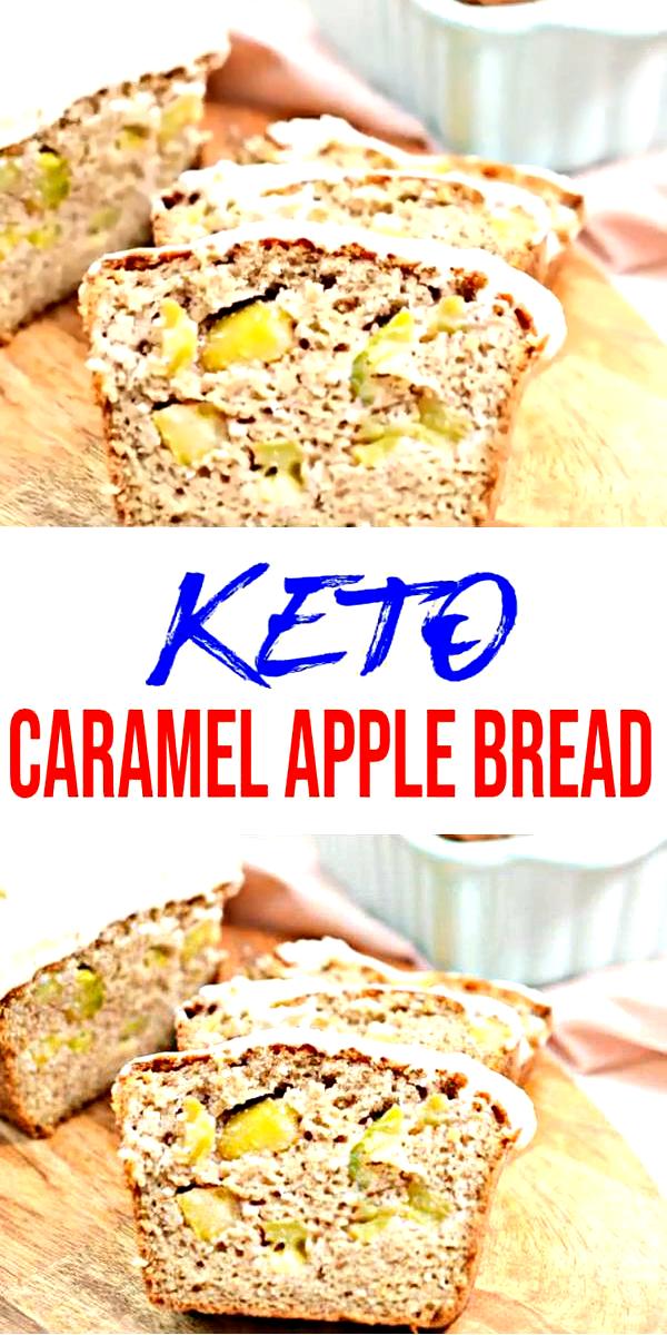 Keto Caramel Apple Loaf Bread! AMAZING ketogenic diet