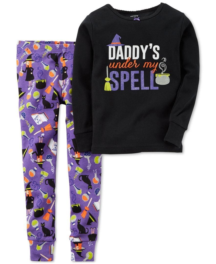 carters baby girls 2 piece halloween pajamas