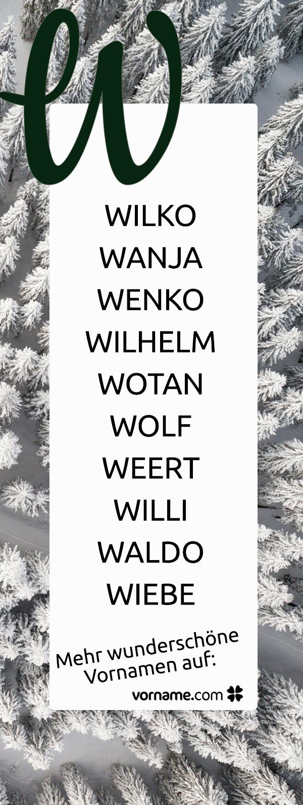 Jungsnamen Mit E