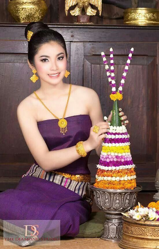 Lao Outfit Laos Culture Laos Wedding Thai Traditional Dress