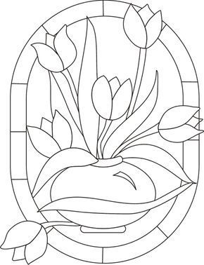 Vitral Tulipanes With Images Stained Glass Quilt Stained