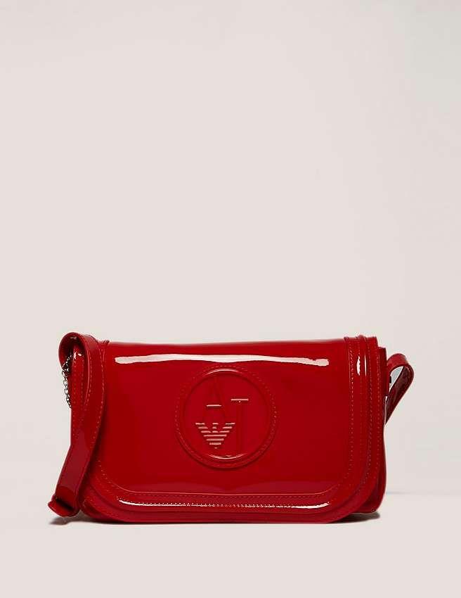 e0ab22868f red Armani Jeans Small Patent Cross Body Bag | Bags bags | Armani ...