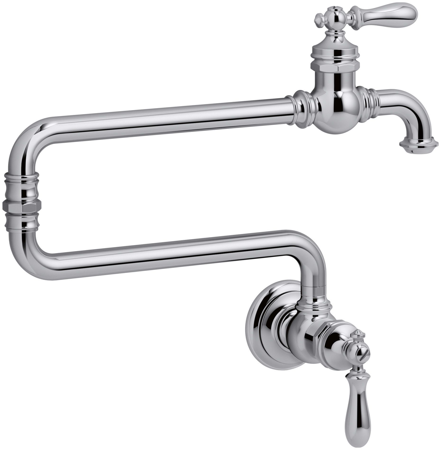 Artifacts(R) Single-Hole Wall-Mount Pot Filler Kitchen Sink Faucet ...