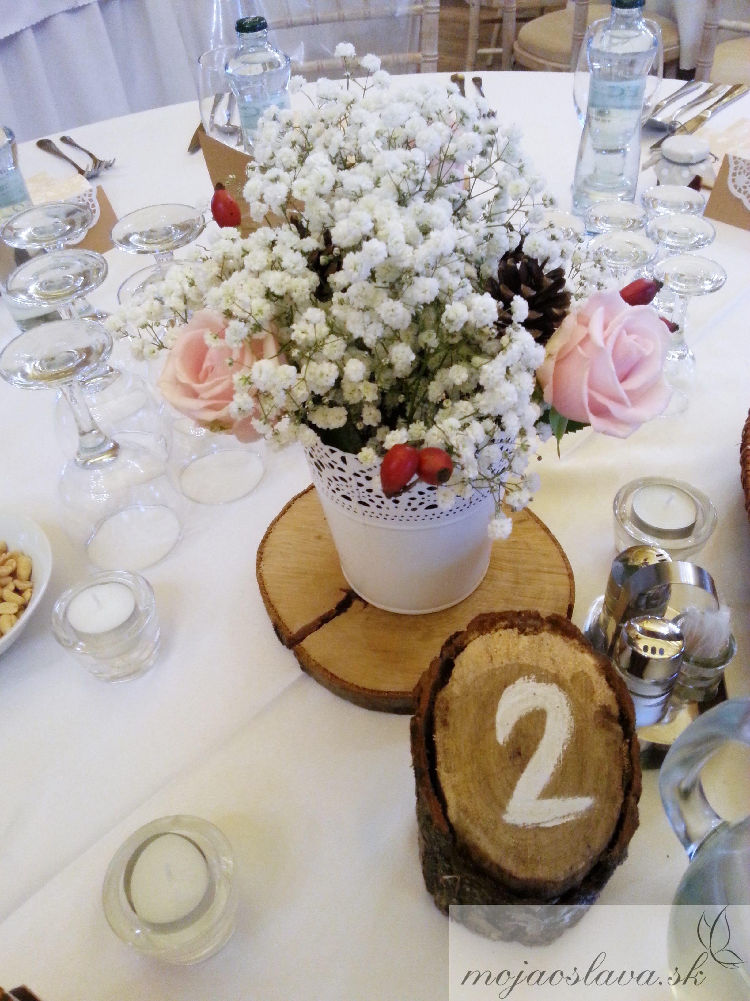 Gypsophila Wedding Table Decoration