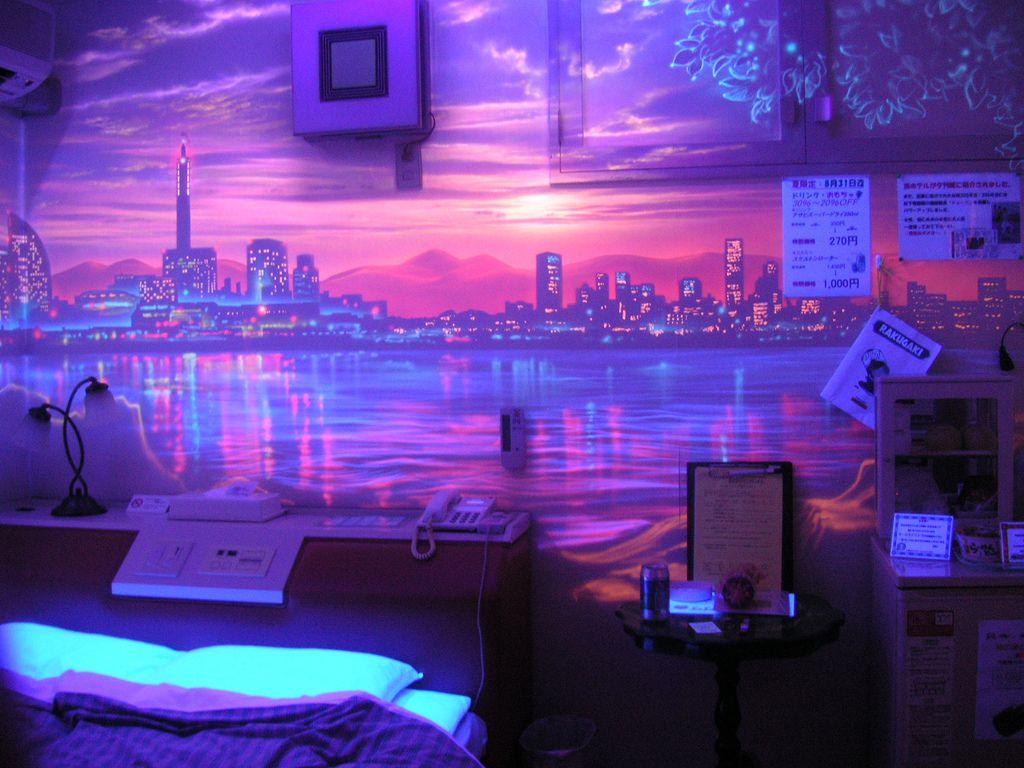 Tokyo Japan Room Neon Decor Hotels Room