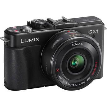 Panasonic Lumix Dmc Gx1 Mirrorless Micro Four Thirds Digital Camera With G X Vario Pz 14 42mm F 3 5 5 6 Lens Black Panasonic Camera Panasonic Lumix System Camera