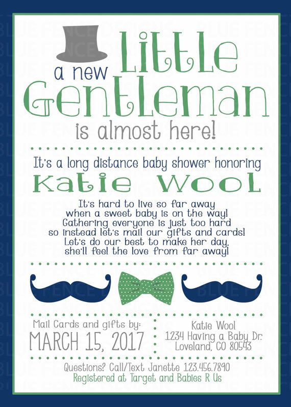 Long Distance Baby Shower Invitation Baby Shower By Mail Across