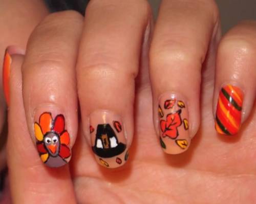 Thanksgiving Nails Nail Art Cosmetics Fragrances Pinterest