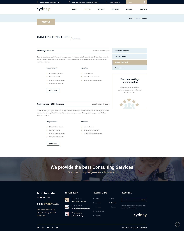 Sydney Premium Finance Business Psd Financial Website Business