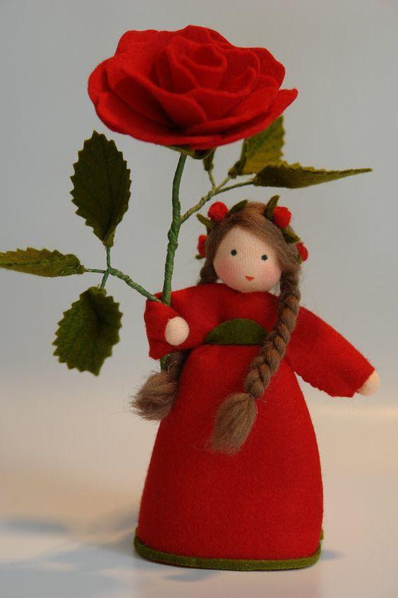 Rose  Flower Child  Waldorf Inspired  Nature di KatjasFlowerfairys
