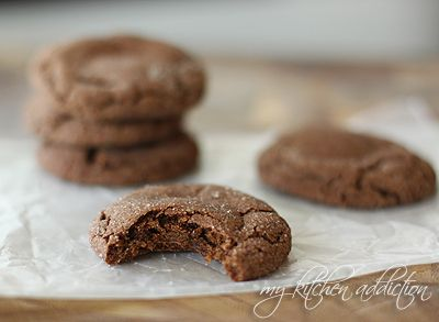 Caramel Stuffed Mexican Chocolate Cookies from @jen Schall of My Kitchen Addiction