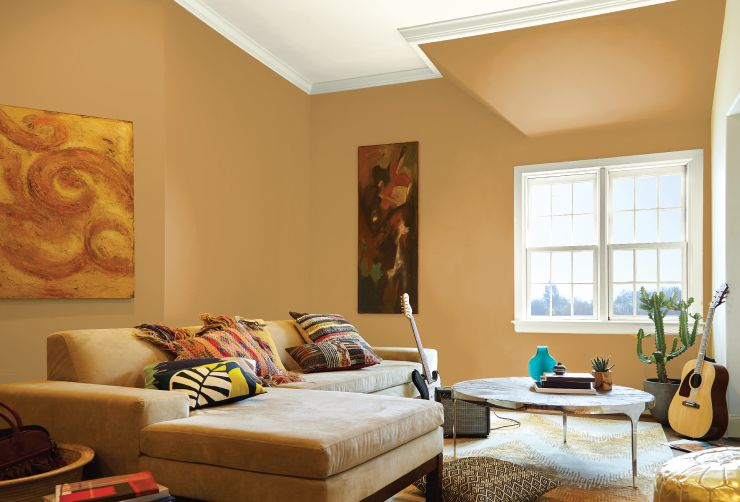 Color Of The Month Amber Autumn Yellow Living Room Paint Living