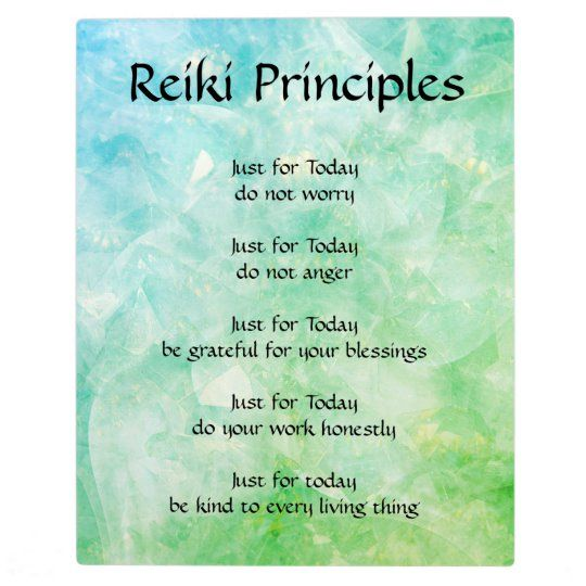 Reiki Principles Plaque | Zazzle.com