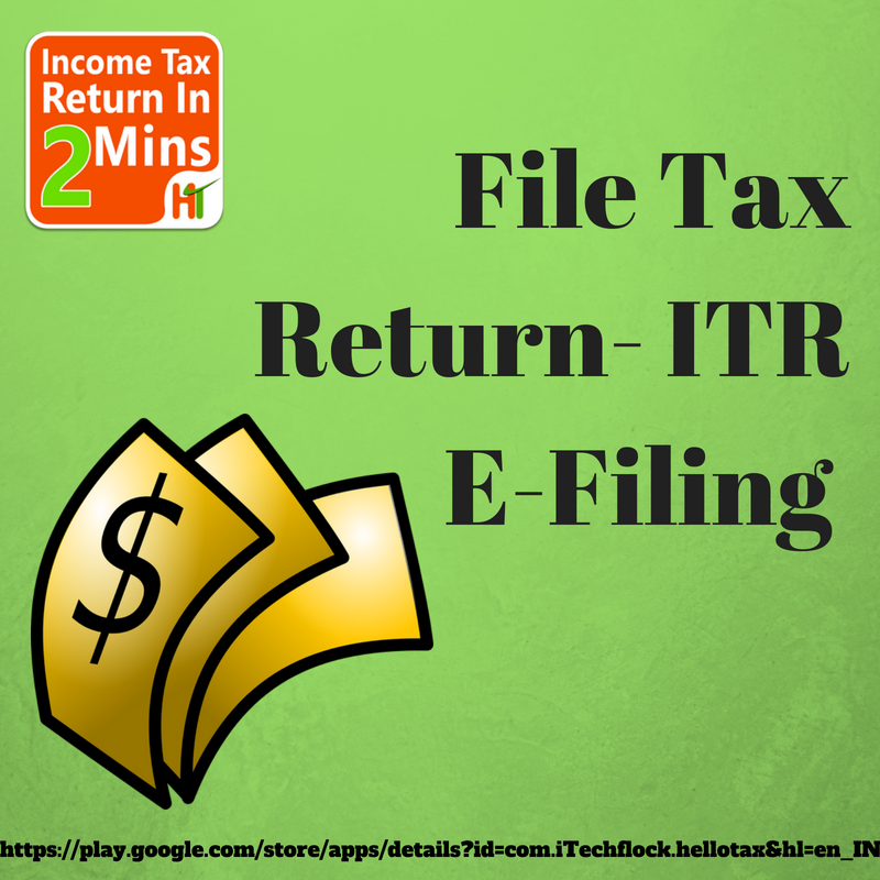 File Tax Return ITR EFiling HelloTax is an easy, cost