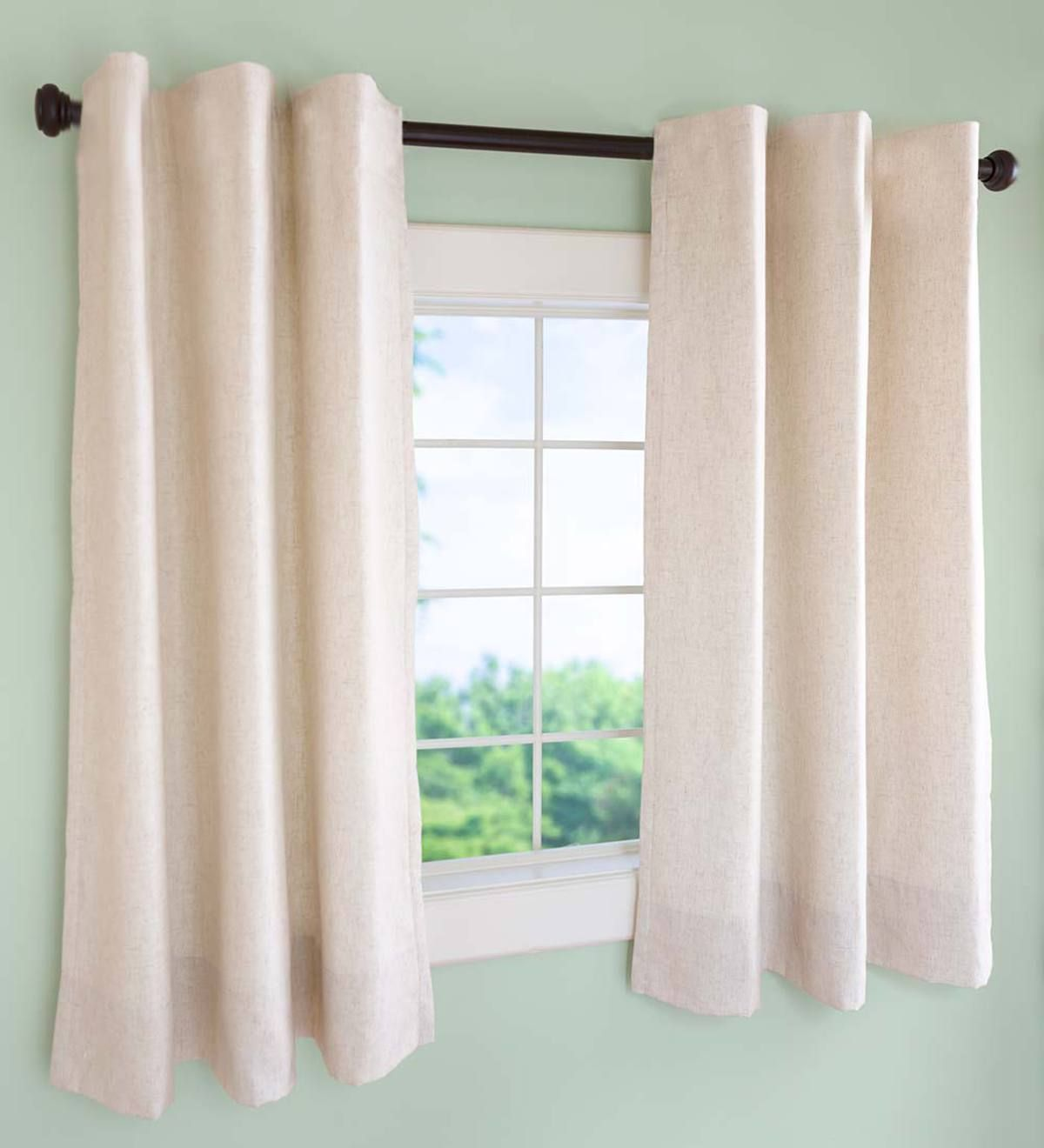 Insulated Short Curtain Panels Rod Pocket With Images Short