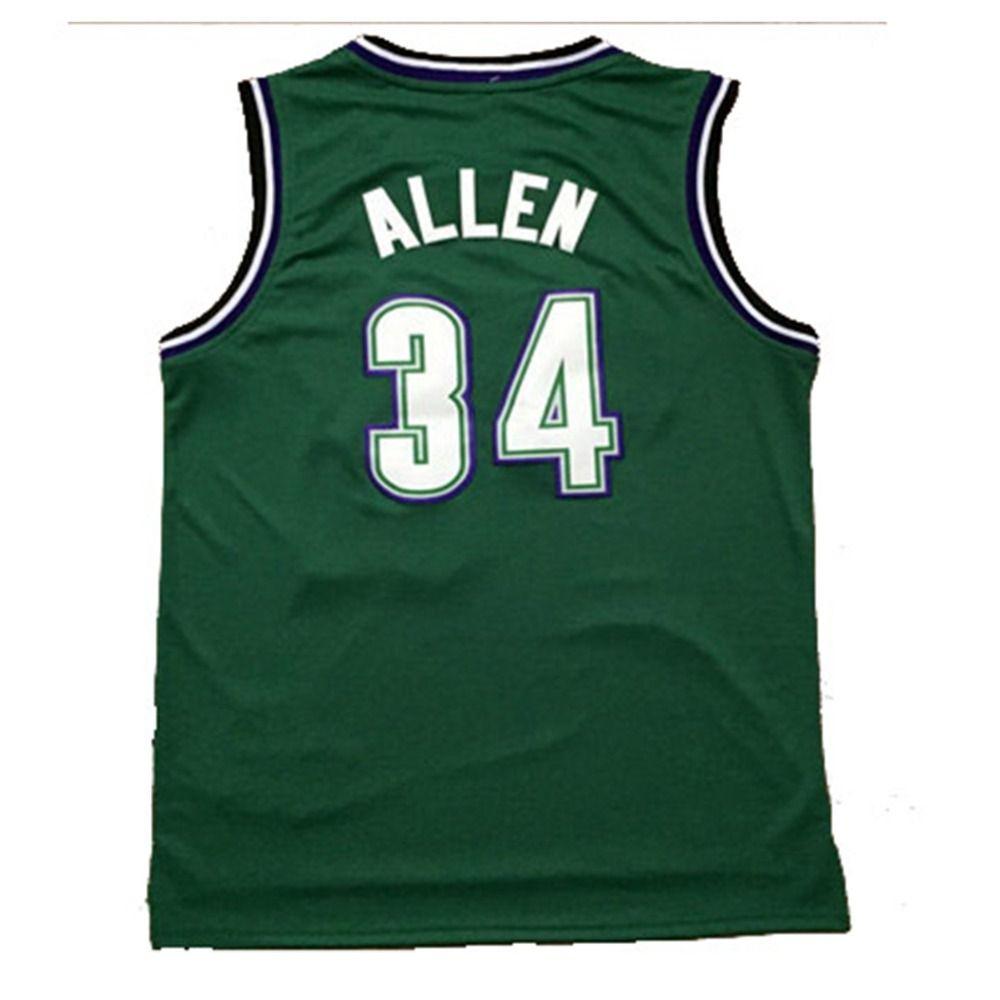 sale retailer 6d0c7 7df42 Aliexpress.com : Buy Milwaukee #34 Ray Allen Basketball ...