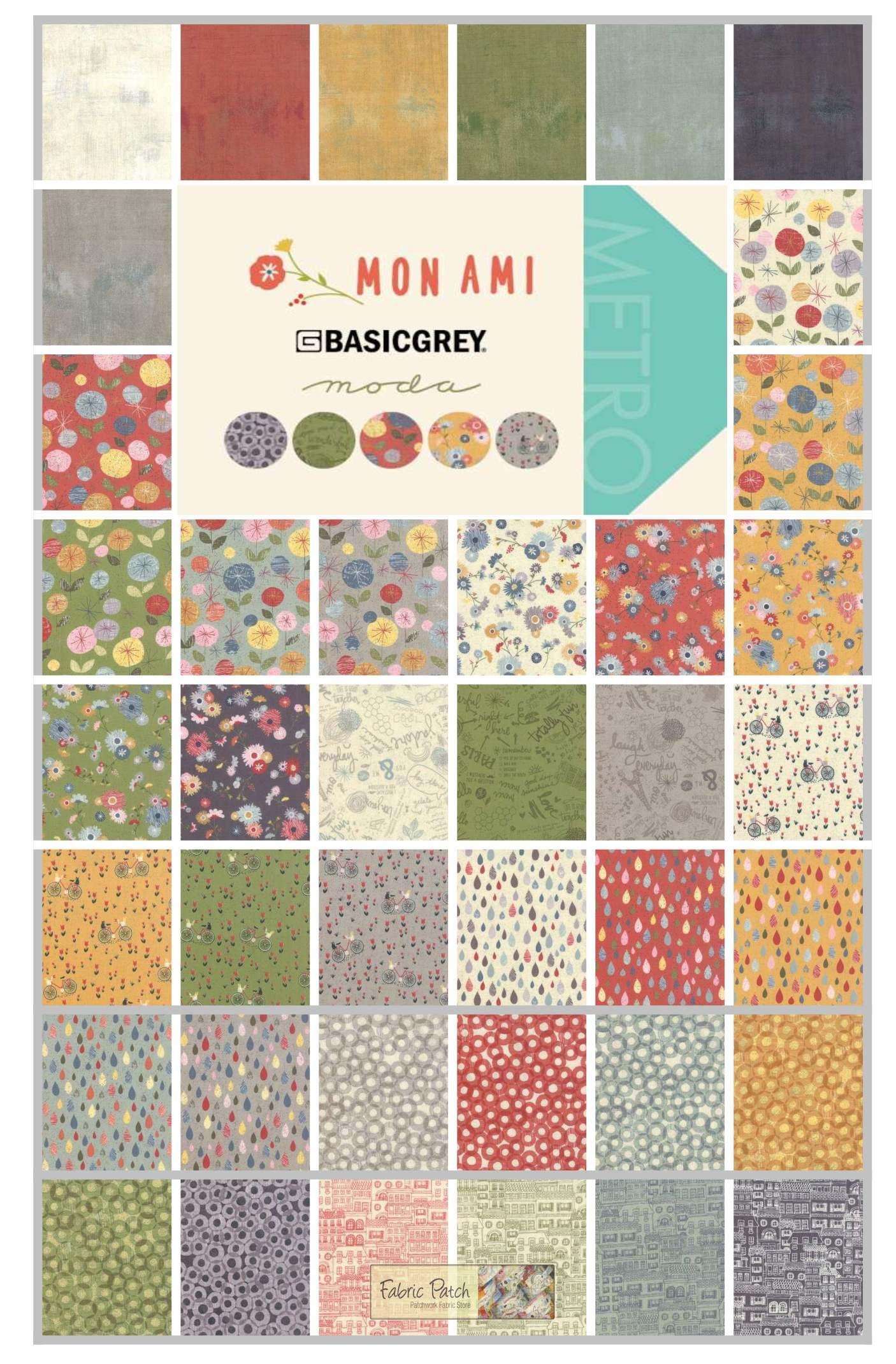 Mon Ami charm squares by Basic Grey for Moda Fabrics - patchwork ... : moda quilting fabric - Adamdwight.com
