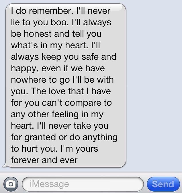 Love boyfriend girlfriend relationship sweet trust text message