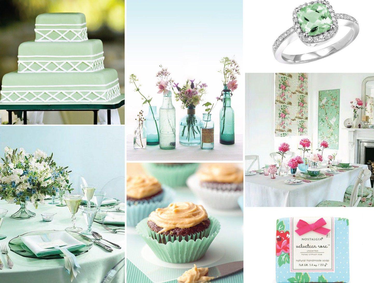 Decoração do Casamento: Verde-água e Branco | Wedding and Weddings