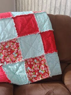 Rag Quilt- so cute!  Could make pillow shams out of these to coordinate colors.