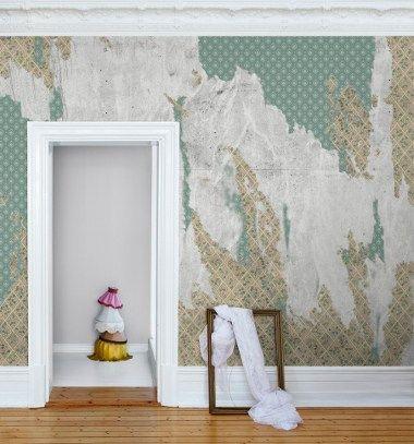 Fototapeten mit Beton-, Metall- und Holzmotiven Wandgestaltung - moderne wandgestaltung mit tapeten