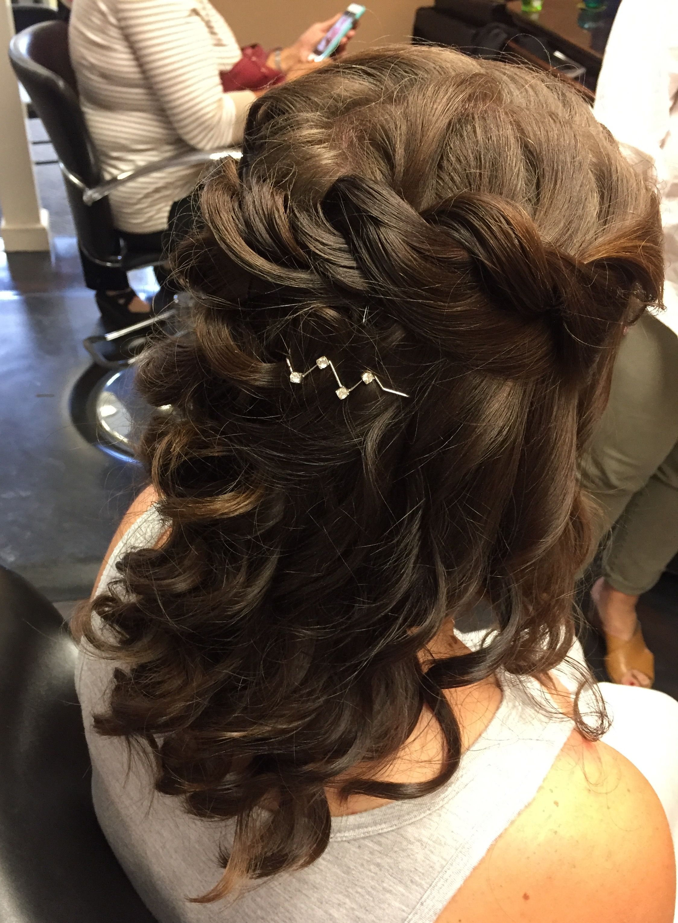 1 2 Up 1 2 Down Updo Wedding Updo Hair Styles Hair Wrap