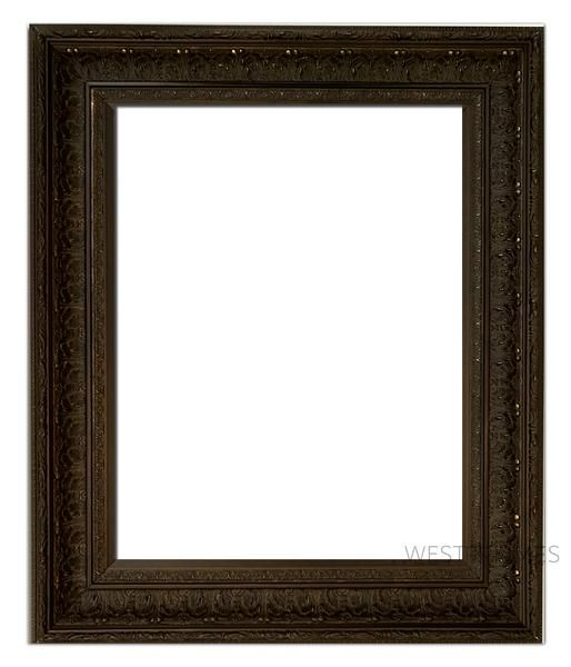 Elegance Ornate Embossed Wood Picture Frame Bronze