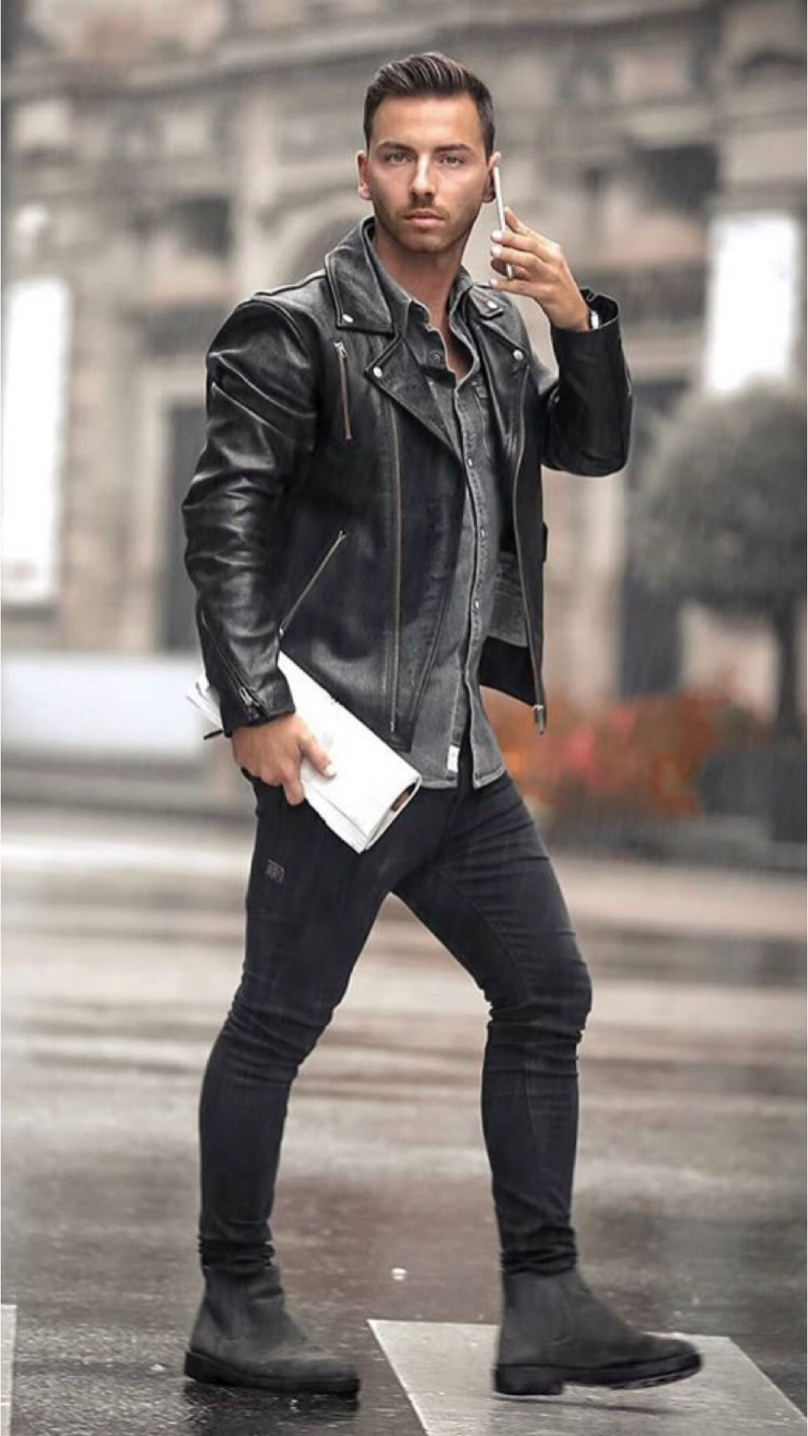 18 Casual Outfits You Should Copy Leather Jacket Men Leather Jacket Outfit Men Leather Jacket [ 2048 x 1152 Pixel ]