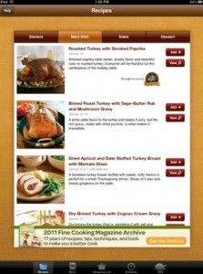 thanksgiving menu maker from fine cooking free ipad app ipad app