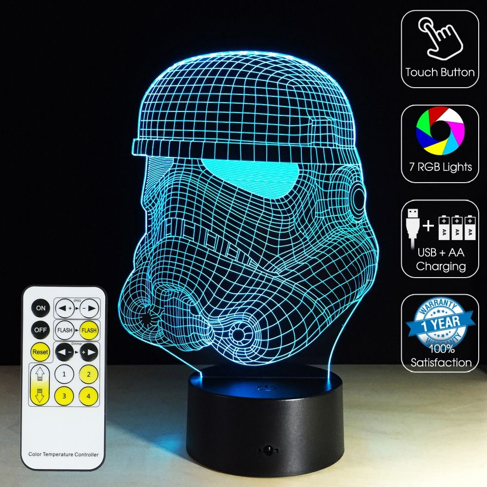 3d Optical Illusion Lamp Star Wars Clone Stormtroopers Star Wars Star Wars Clone Wars 3d Optical Illusions Optical Illusions