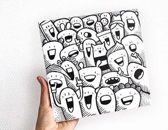 Contoh Gambar Doodle Art Simple Mudah Di Tiru Grafis Media
