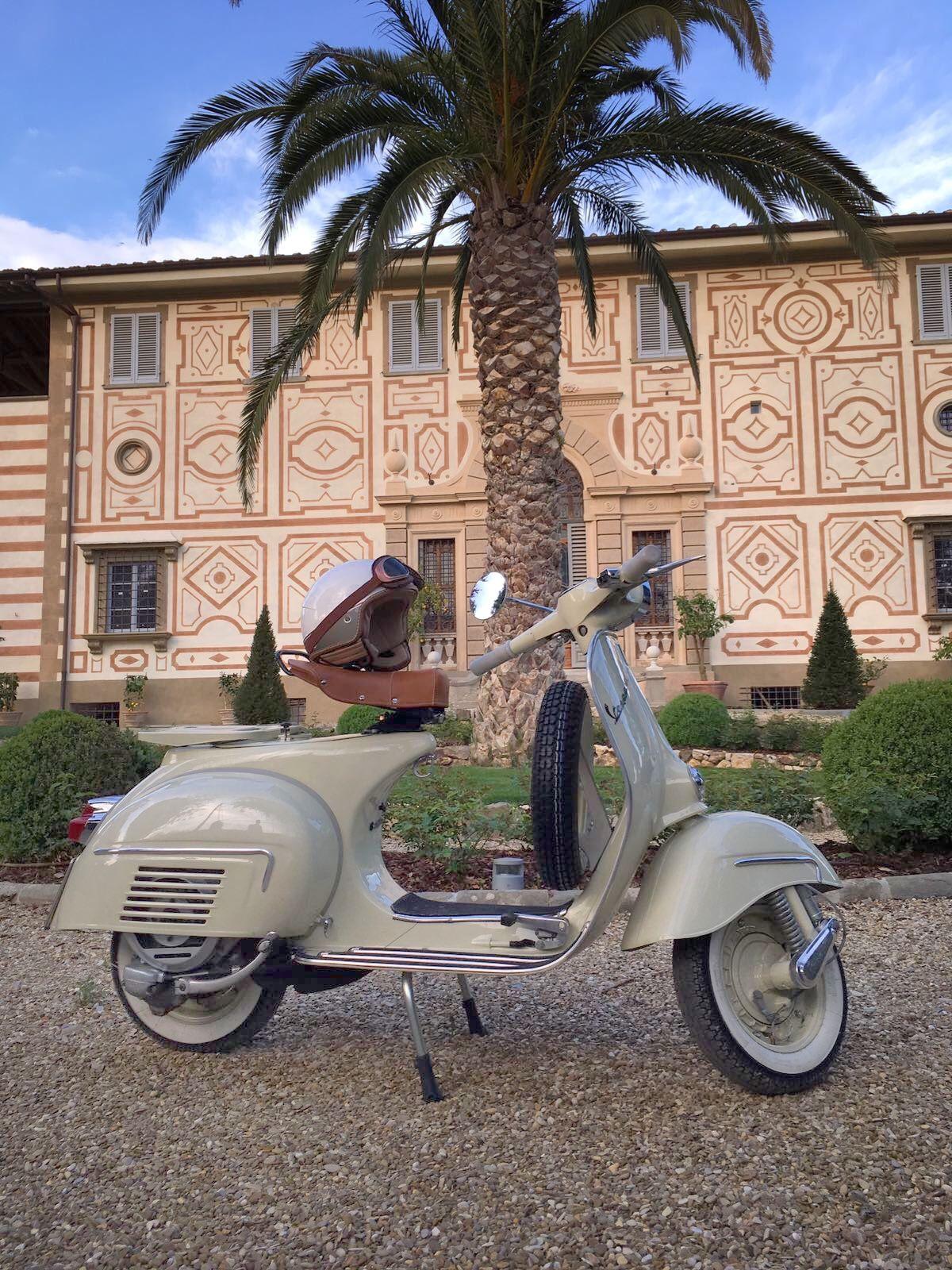 Vespa 150 Gl 1964 San Domenico Monastery Sesto F No Florence