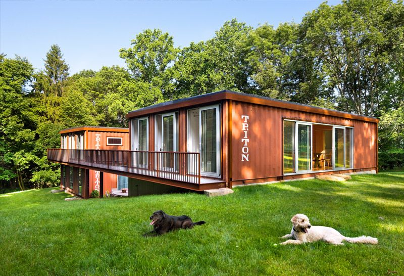shipping container houses kalkin container house in califon nj is three shipping containers - Iso Container Homes