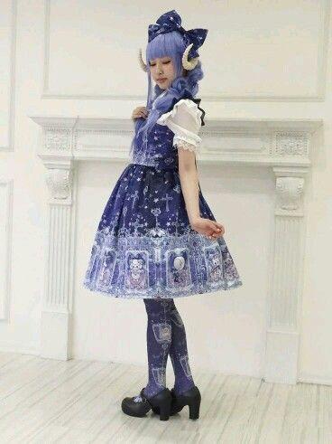lolita fashion  blaues kleid  blue kawaii