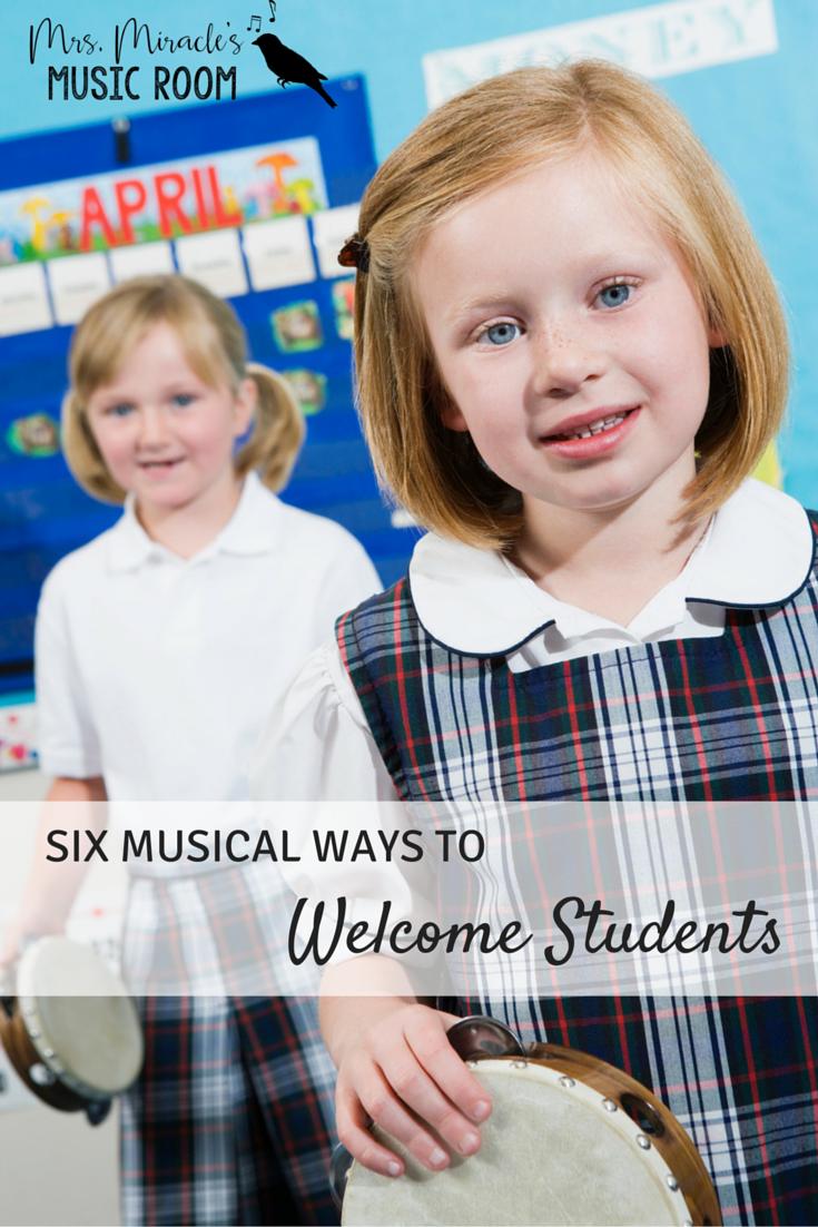 Six Musical Ways To Begin A Class Starting Off Right Pinterest