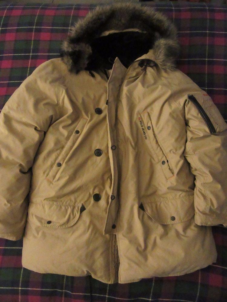 Vintage Ralph Lauren POLO JEANS RL 67 Down Parka Jacket Coat