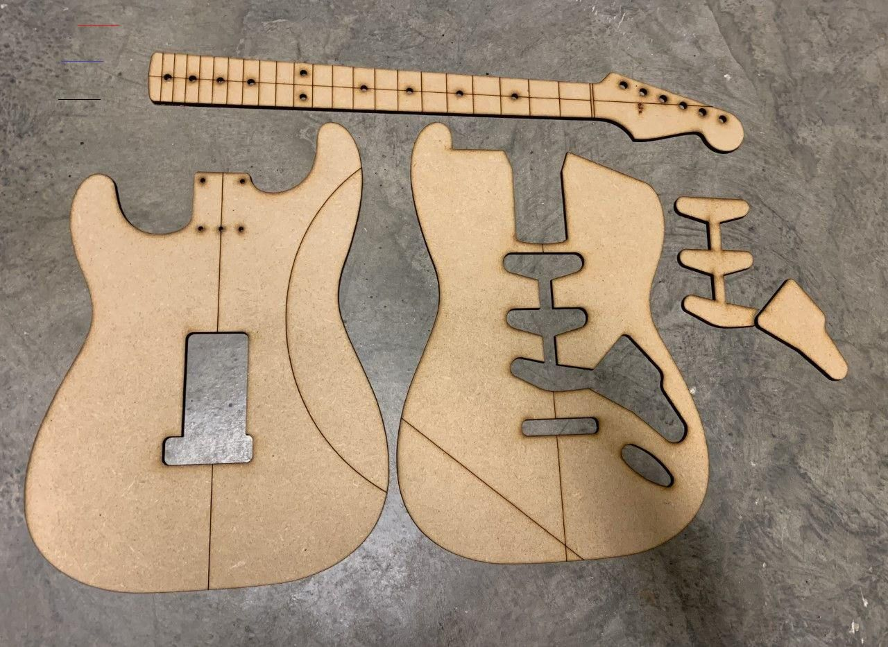 60 S Strat Template Guitar Building Templates Guitarbuilding Like The 50 S Strat But Cavity Routing Accommodates 11 Hole Pickguard Circa 1960 S Headstoc
