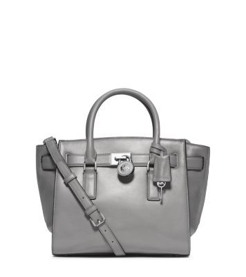 Michael Kors White Hamilton Traveler Medium Saffiano Leather Tote