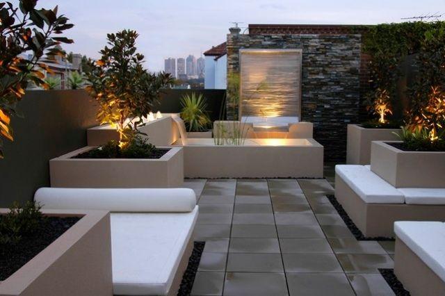 Terrasse gestalten-ideen h2o design-australien Exotische-vegetation ...