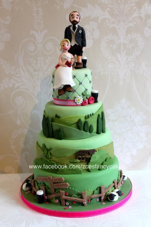 Yorkshire Dales Themed Wedding Cake For Crisp And Beer