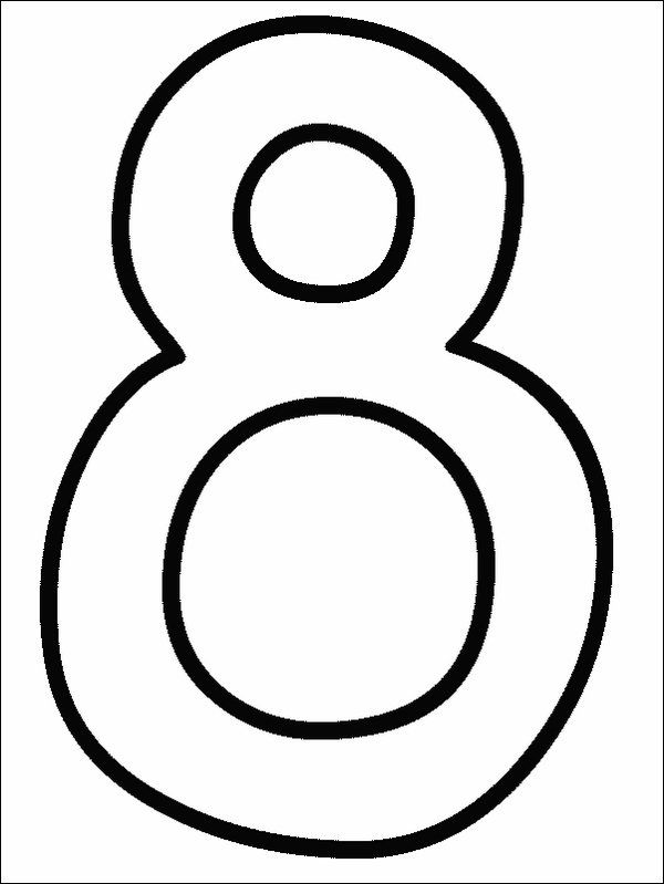 84 Coloring Page Of The Number 8