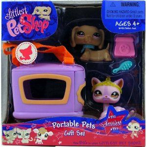 Amazon Com Littlest Pet Shop 932 And 933 Portable Pets Dog And Cat Toys G Little Pets Lps Pets Littlest Pet Shop