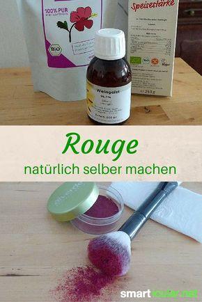 Natürliches Kompakt-Rouge aus nur 3 Zutaten herstellen