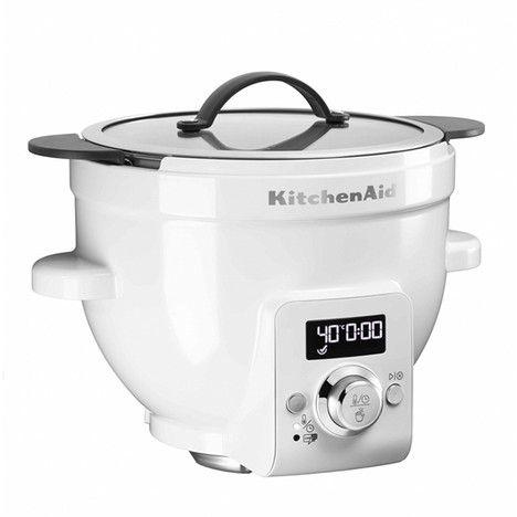 Bol chauffant avec contrôle de température pour robot artisan - kitchenaid küchenmaschine rot