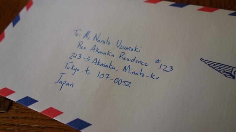 how to write a japanese address for mailing  writing