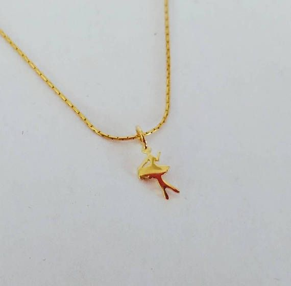 Tiny dancer gold ballet pendant dancer necklace gold ballerina tiny dancer gold ballet pendant dancer necklace gold ballerina mozeypictures Image collections
