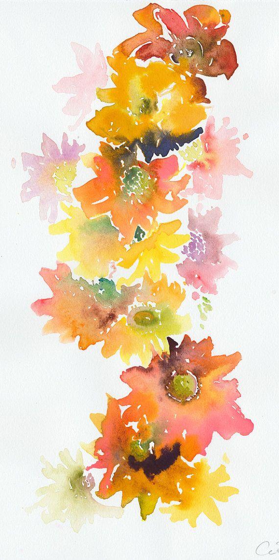 Original Watercolor Painting Watercolour by silverridgestudio, $95.00