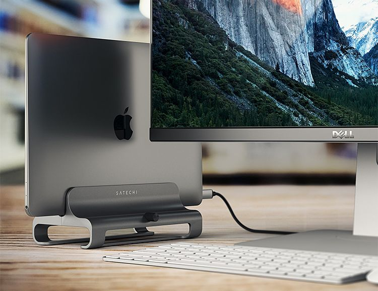 This Sleek Aluminum Laptop Stand Frees Up Space On Your Desk